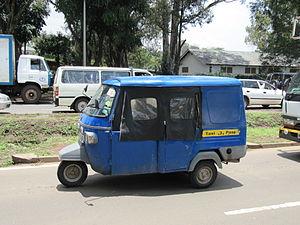 Rickshaw - An auto rickshaw (tuk-tuk) in Nairobi