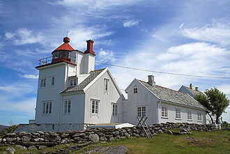 Randaberg - View of the Tungenes Lighthouse in Randaberg