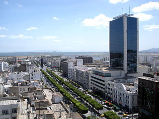 Avenue Habib Bourguiba street in Tunis, Tunisia
