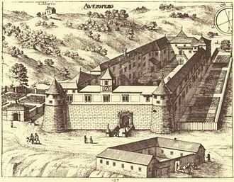 Turjak Castle - Turjak Castle, 1689 engraving in The Glory of the Duchy of Carniola
