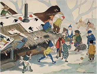 William Donahey - Tweenie Weenies roofing with cards