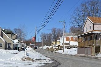 Blacklick Township, Cambria County, Pennsylvania - Pennsylvania Route 271 in the community of Twin Rocks