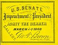 Two admission cards to the U.S. Senate impeachment proceedings (for President Andrew Johnson), May 16, 1868.jpg