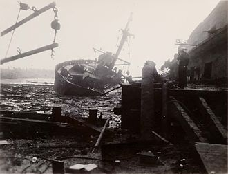 Texas City disaster - The SS Wilson B. Keene, destroyed in the disaster's second explosion