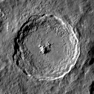 Tycho (lunar crater) Prominent lunar impact crater