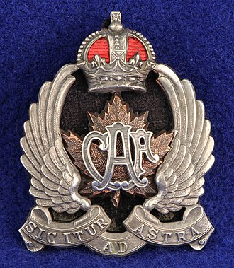 Canadian Air Force (1920–24) - Image: Type 2 for Officers wedge cap, height 56mm (ex AVM A.E. Godfrey) 2
