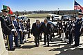 U.S. Defense Secretary Chuck Hagel, left, hosts an honor cordon to welcome Portuguese Defense Minister Jose Pedro Aguiar-Branco at the Pentagon, March 31, 2014 140331-D-NI589-010c.jpg