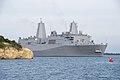 U.S. Navy ship pulls into Guantanamo Bay. (38591829585).jpg