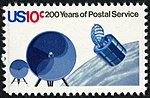 U.S. Postal Service Bicentennial Satellite for Transmission of Mailgrams 10c 1975 issue stamp.jpg
