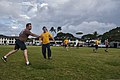 U.S. Sailors assigned to Construction Battalion Maintenance Unit 303 and Naval Facilities Engineering Command Self-Help play Ultimate Frisbee during the Seabee Olympics 130222-N-XD424-014.jpg
