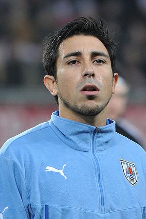 Jorge Fucile - Fucile lining up for Uruguay in 2014