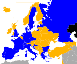 UEFA Euro 2004 qualifying - Image: UEFA Euro 2004 Qualifiers Map
