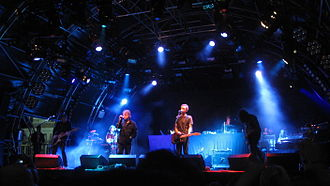 Unkle - Unkle in concert at Somerset House in London in 2008