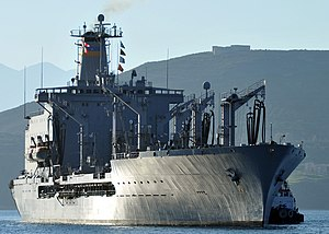 King post - King posts on fleet oiler USNS Laramie support refueling gear.