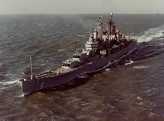 USS Canberra - Image: USS Canberra (CAG 2) underway at sea on 9 January 1961 (KN 1526)