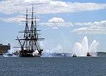 USS Constitution gets underway. (8961608386).jpg