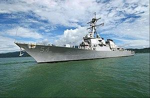 USS Curtis Wilbur - Docked in the port of Da Nang, Vietnam