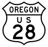 US 28 Oregon 1948 shield marker