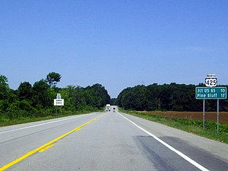 U.S. Route 425 - Along US 425 north of Star City