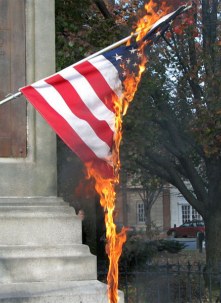 burning american flag essay Burning the american flag is a slap in the face thousands of men and women have died for the idea that the united states of america flag stands for.