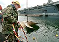 US Navy 020419-N-9421C-002 Aircraft carrier screw removed for overhaul.jpg