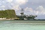 US Navy 050618-N-4658L-109 The nuclear-powered aircraft carrier USS Nimitz (CVN 68) moors in Apra Harbor, Guam.jpg