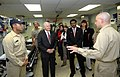 US Navy 071006-N-0194K-086 Secretary of Defense Robert M. Gates receives briefing aboard USNS Comfort.jpg