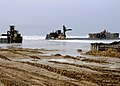 US Navy 080708-N-1424C-229 A Navy lighterage system causeway ferry is off loaded during Joint Logistics Over-The-Shore (JLOTS) 2008.jpg
