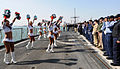 US Navy 090121-N-1082Z-061 The Miami Dolphins Cheerleaders perform for Sailors aboard the guided-missile cruiser USS Vella Gulf (CG 72).jpg