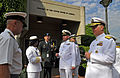 US Navy 090406-N-8273J-023 Chief of Naval Operations (CNO) Adm. Gary Roughead, right, speaks with South African Navy Capt. Leon Van Dyk, left, and members of the U.S Embassy.jpg