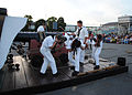 US Navy 100702-N-7642M-403 Sailors assigned to USS Constitution perform a gun drill in the Sunset Parade at the Charlestown Navy Yard.jpg