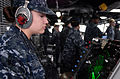US Navy 110323-N-QP268-076 Operations Specialist 3rd Class Brittany Terrell, from Amado, Ariz., monitors an SPA-25G radar console.jpg
