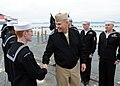 US Navy 110415-N-JB660-027 Vice Adm. Richard W. Hunt, commander of the U.S. 3rd Fleet, visits with Sailors aboard the aircraft carrier USS Abraham.jpg