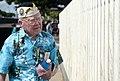 US Navy 111207-N-WX059-039 Roy Carter, a Pearl Harbor survivor, views the USS Oklahoma memorial on Ford Island.jpg