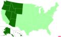 US states by other Christian population.png