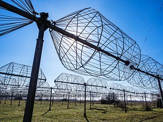 Radio telescope - Antenna of UTR-2 low frequency radio telescope, Kharkiv region, Ukraine. Consists of an array of 2040 cage dipole elements.