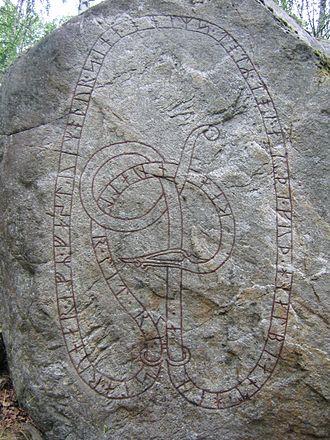 Greece runestones - Side A of runestone U 112