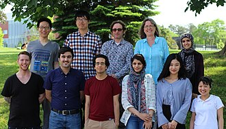 Donna Strickland - Strickland's ultrafast laser group at University of Waterloo, in June 2017