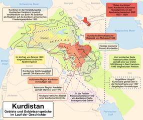 Landkarten von Kurdistan