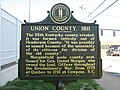Union County historical marker in Morganfield.jpg