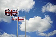 Union Flag and St Georges Cross