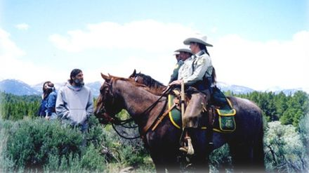 A horse patrol of the Law Enforcement & Investigations unit - United States Forest Service