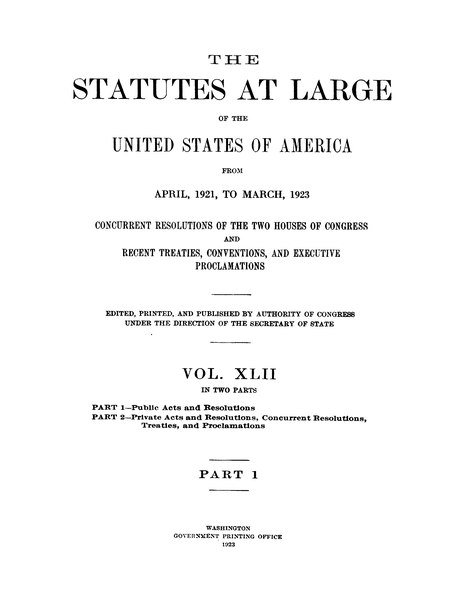 File:United States Statutes at Large Volume 42 Part 1.djvu