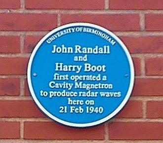 John Randall (physicist) - University of Birmingham – Poynting Physics Building – blue plaque