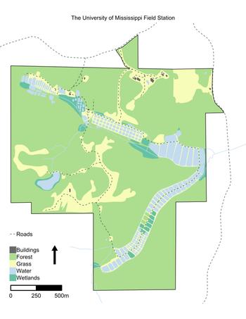 university of mississippi map University Of Mississippi Field Station Wikipedia university of mississippi map