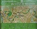 Véloroute du canal de Roubaix panneau détail de situation à Marcq-en-Baroeul.jpg