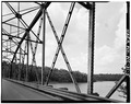 VIEW OF TRUSS PANEL - Huffman Bridge, Spanning Catawba River, Morganton, Burke County, NC HAER NC,12-MORG.V,1-5.tif