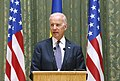 VP Biden and PM Yatsenyuk, Joint Statement, Kyiv, Ukriane, April 22, 2014 (13958023796).jpg