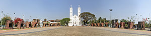 National Shrine Basilica of Our Lady of Ransom, Vallarpadam - A panoramic view of Vallarpadam Basilica