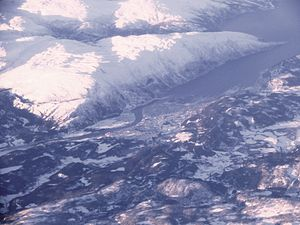Mosjøen - Topographic situation.